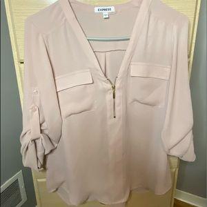 light pink business blouse!💓